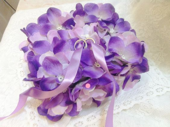 handmade flower ring pillow...  feel interest to buy then let me know la~  http://www.etsy.com/listing/103667023/100-handmade-of-purple-pink-flower-of?ref=v1_other_1