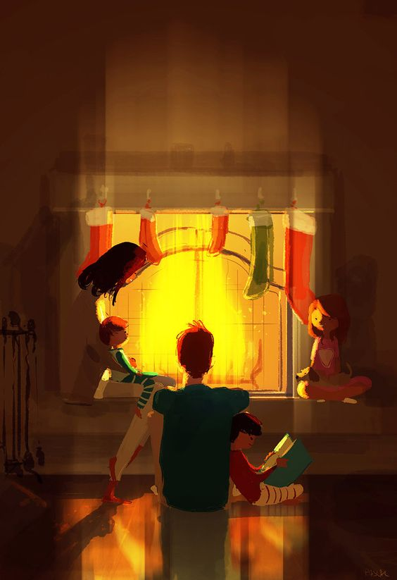 ⌨FIREPLACE SEASON by Pascal Campion⌨ #pascalcampion #paintings #artwork: