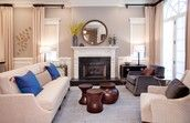 Drawing room interior by Interior Designer in Chicago