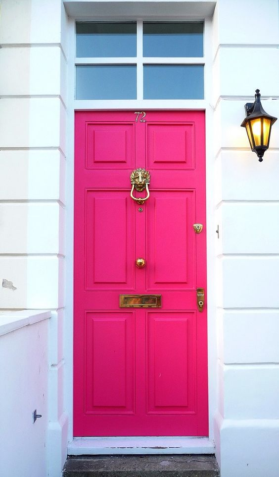 Painting the front door can add major curb appeal! Check out some more ideas at Decoist.com