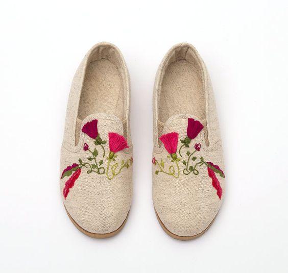 Natural Women Shoes Oxford Shoes Close Shoes Flat by KatzAndBirds