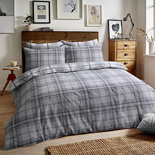 Clicktostyle 100 Brushed Cotton Flannelette Tartan Check Https Www Amazon Co Uk Dp B07jbdhq5 Super King Duvet Covers Quilted Duvet Cover Bed Duvet Covers