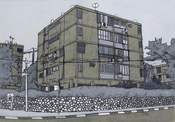 Niv Tishbi. acrylic, cement http://www.flickr.com/photos/nivtishbi/4211462878