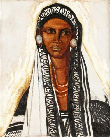 1914 - W. v. Ruckteschell - Frauenportrait