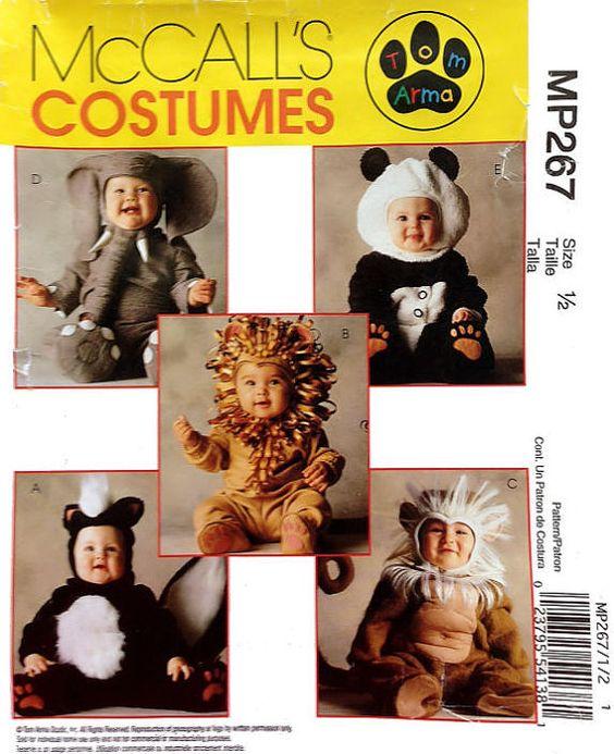 baby costume pattern size one half mccalls mp267 halloween elephant panda - Baby Halloween Costume Patterns