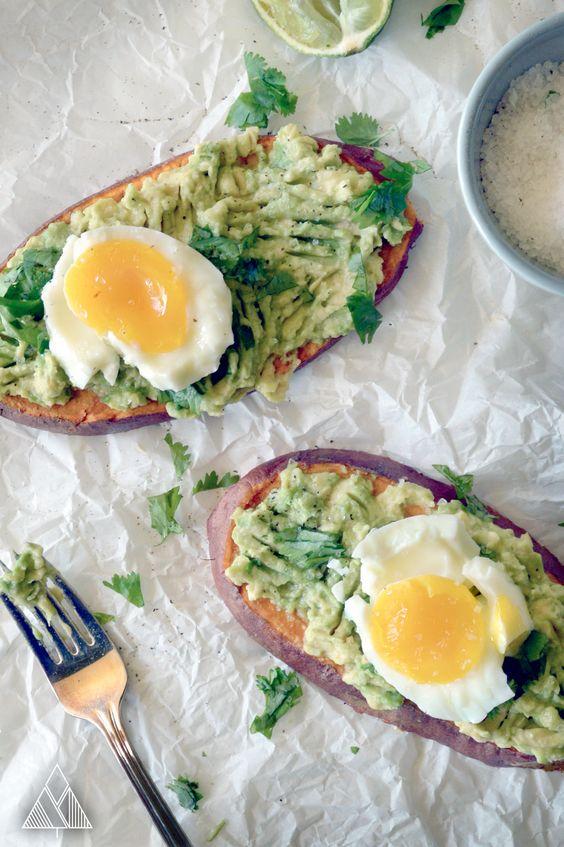 eggs boiled egg roasted sweet potatoes avocado potatoes eggs sweet ...