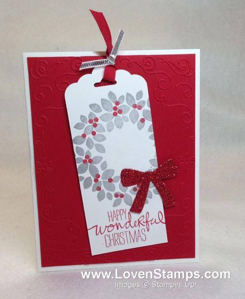 Wondrous Wreath stamp set Christmas card bookmark idea with the - christmas card layout