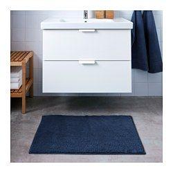 TOFTBO Tappeto per bagno, blu scuro - IKEA
