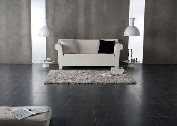 Laminate Tile Flooring Colour Black And On