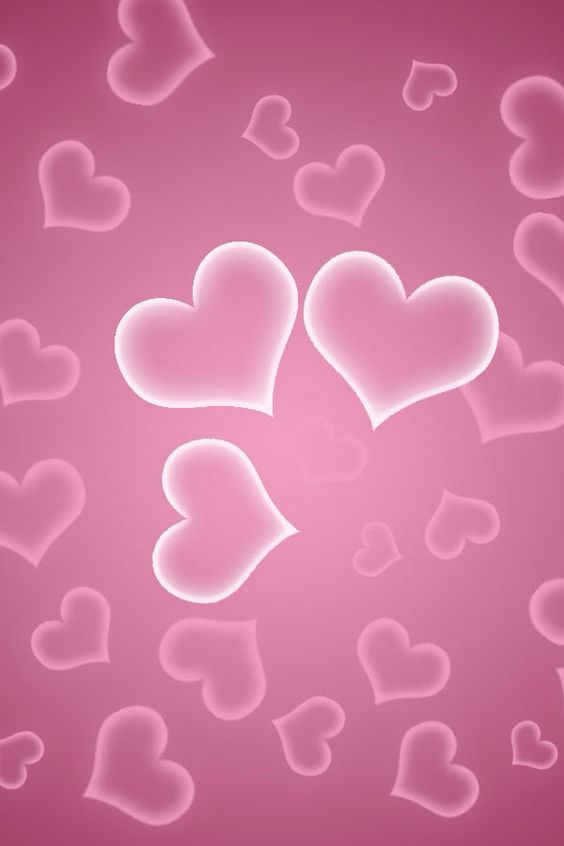 Heart wallpaper pink hearts and wallpapers on pinterest - Pink roses and hearts wallpaper ...