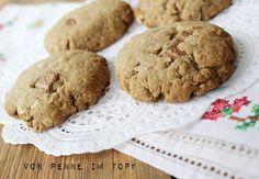 Penne im Topf: Vollkorn Chocolate Chip Cookies aus Frisch und Leicht von Donna Hay