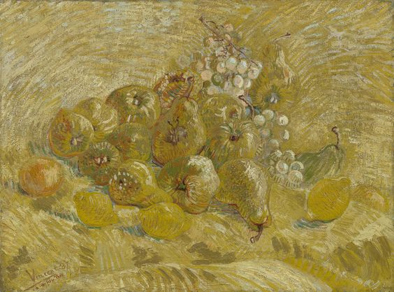 Quinces, Lemons, Pears and Grapes van gogh