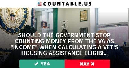 "Should Money From the VA Count as ""Income"" When Calculating a Vet's Housing Assistance Eligibility?  #Families #FederalAgencies #Military #HousingandCommunity #Development #Government #Taxes #VeteransAffairs #Wages #politics #countable"