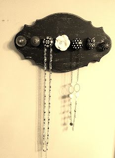 Knobs necklace hanger and world market on pinterest for Hobby lobby jewelry holder