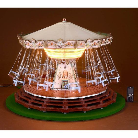 Fairground Working Model Of A Chain Carousel Constructed