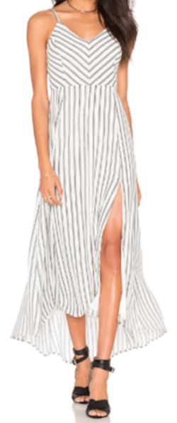loving this simple striped maxi dress