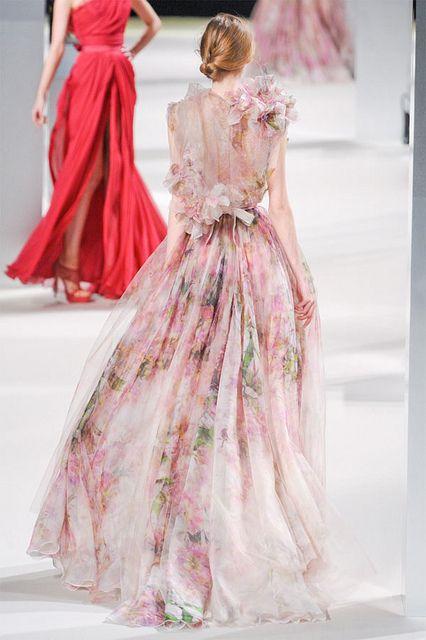{sheer florals & chignons}