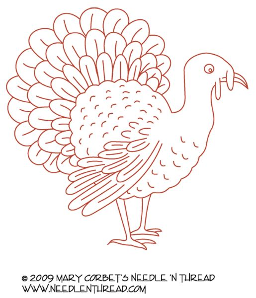 Free Hand Embroidery Pattern Turkey! | Hand Embroidery Hand Embroidery Patterns And Embroidery ...