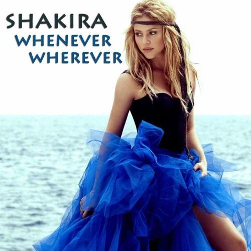 Shakira – Whenever, Wherever (single cover art)