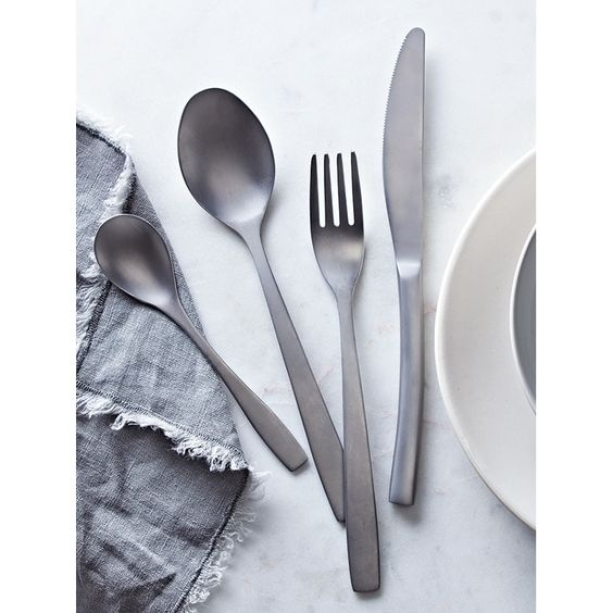 Cox & Cox Cutlery Aurelia Brushed Silver 16 Piece Set | Prezola - The Wedding Gift List