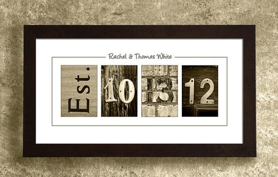 Wall Art With Wedding Date : Wedding date gift idea for the couple
