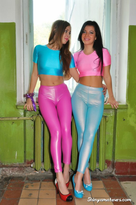 Blue And Pink Leggings