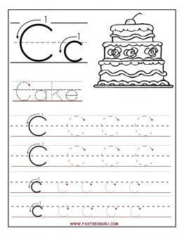 Printables Free Printable Preschool Worksheets Tracing Letters printable letter c tracing worksheets for preschool coloring pages kids