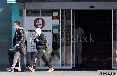 People Wearing Face Masks Are Seen Exiting The Dubrava Hospital In Zagreb Ad Paid Face Masks People Wearing Hospital In 2020 Face Mask How To Wear Zagreb