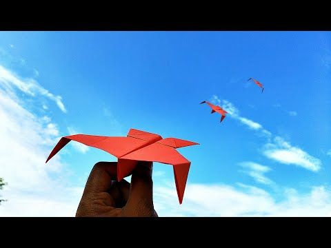 Best Origami Paper Flying Plane Easy Flying Paper Plane Diy Youtube Paper Plane Useful Origami Best Paper Plane