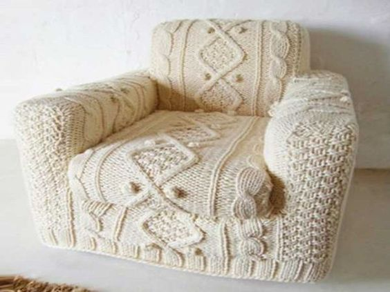 Crochet arm chair covers free patterns art pinterest - Crochet chair cover pattern ...