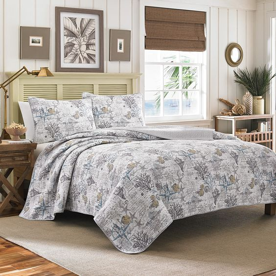 Tommy bahama beach bliss pelican grey quilt set beddingstyle bedroom tommybahama beach - Tommy bahama bedroom decorating ideas ...