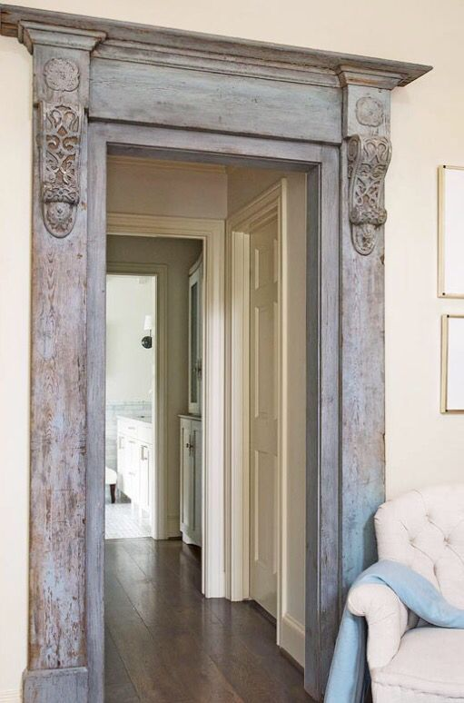 Chalk Paint Distressed Door Frame Home Houston Houses Home Decor