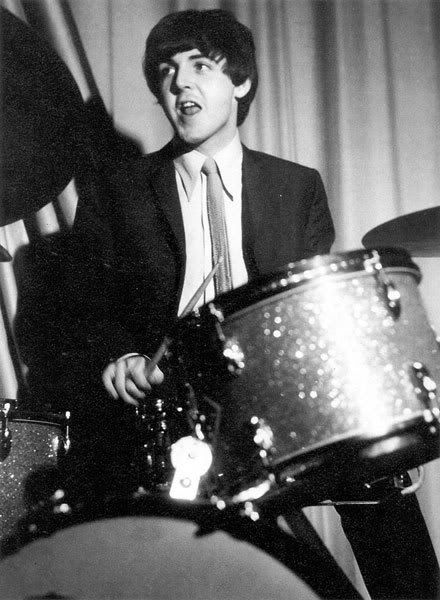 Paul McCartney on drums
