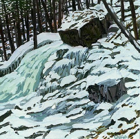 Etude pour Aqua Spring, huile sur toile de Neil Gavin Welliver (1929-2005, United States)