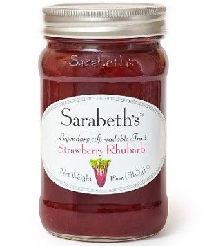 Strawberry Rhubarb Preserves.  Strawberries, sugar, rhubarb, lemon juice - #lowfodmap