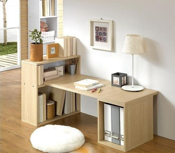Buy Stylish Desktop Home Study Desk Desk Desk Bookcase Computer Desk Bed Korean Ikea Desk