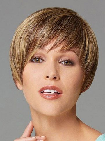 Traditiona Blonde Straight Cropped Synthetic Wigs CSAD0034