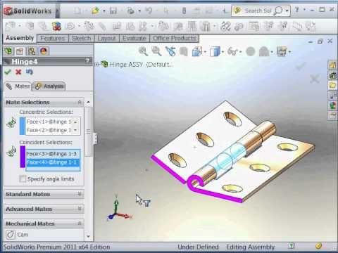 Hinge Mate - SolidWorks 2011 - April 2011