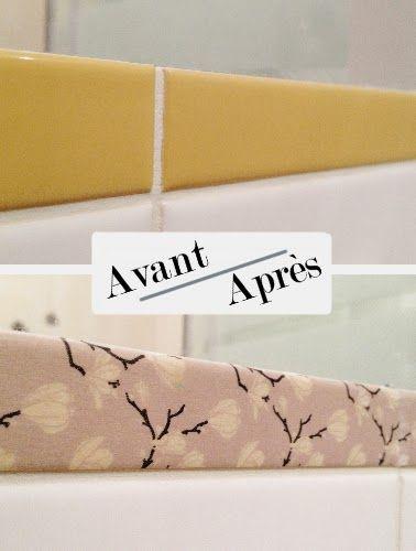 Tendance d co for Peinture carrelage salle de bain avant apres