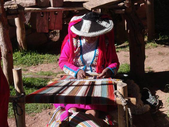 Artesã de uma comunidade Cusqueña. Peru