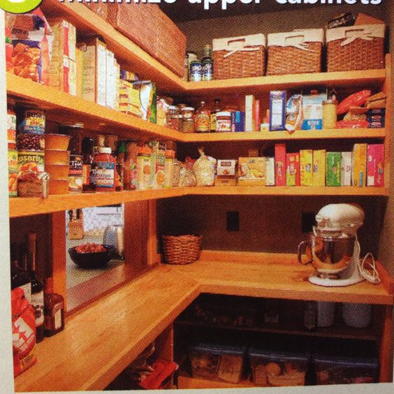 The only pantry I have seen that makes the most sense! Not oversized. Plenty of work space and super functional.
