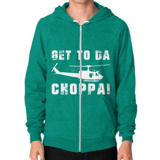 GET TO DA CHOPPA Zip Hoodie (on man)