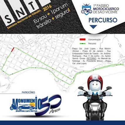 FIRE Mídia - Google+  https://www.facebook.com/monumentoshoppingcar/photos/a.850228231704681.1073741826.238299146230929/1143007502426751/?type=3&theater  Conheça o percurso do 1º PASSEIO MOTOCICLÍSTICO DE  SÃO VICENTE http://goo.gl/YPZRh9  #MonumentoShoppingCar #PasseioMotociclistico #SaoVicente