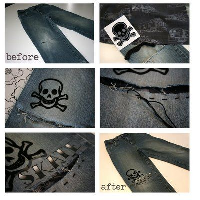 Revamp boys jeans tutorial