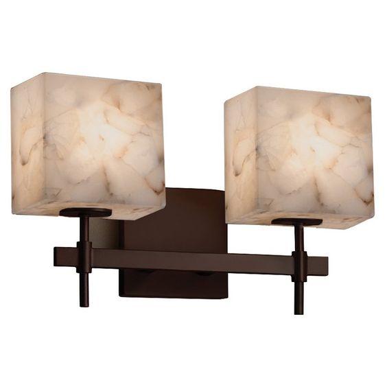 Justice Design Group Alabaster Rocks Union ALR-8412-55 Bathroom Vanity Light - ALR-8412-55-DBRZ-LED2-1400