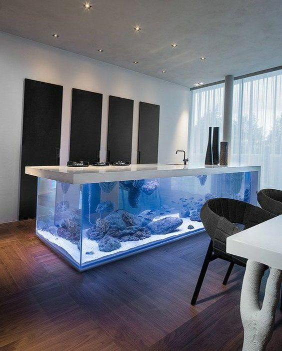 l aquarium mural en 41 images inspirantes deco comment and aquarium. Black Bedroom Furniture Sets. Home Design Ideas