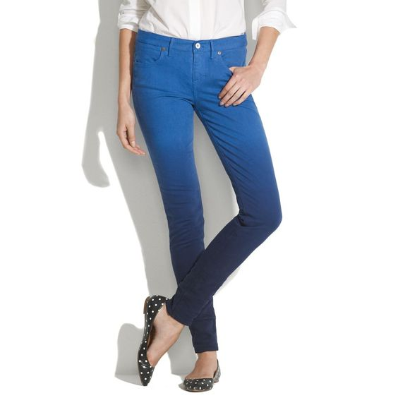 $60 Skinny Skinny Colorfade Jeans - skinny skinny - Women's DENIM - Madewell Wish they delivered to Aus