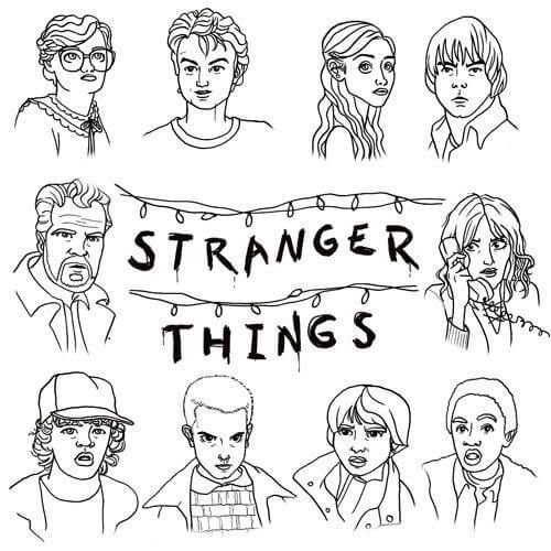 Free Printable Stranger Things Coloring Page Stranger Things Poster Stranger Things Stranger Things Art
