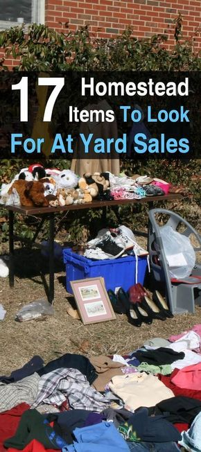 23 Homestead Items To Look For At Yard Sales