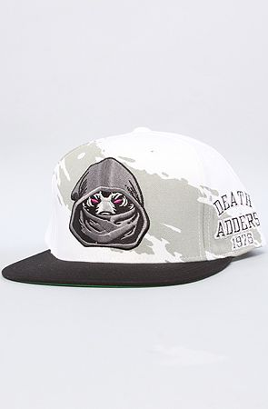 The Society Of The Snake Snapback Cap in White by Mishka